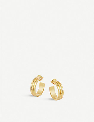 MISSOMA: Ancien 18k gold-plated hoop earrings