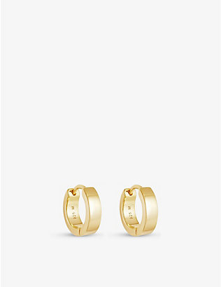 MISSOMA: Chubby 18ct yellow gold-plated vermeil sterling-silver huggie earrings