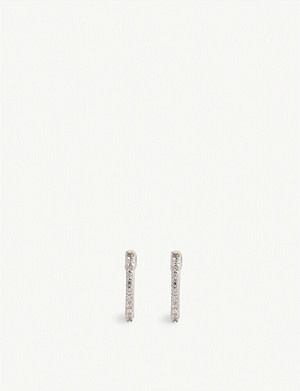 MISSOMA LTD Pave huggies hoop earrings