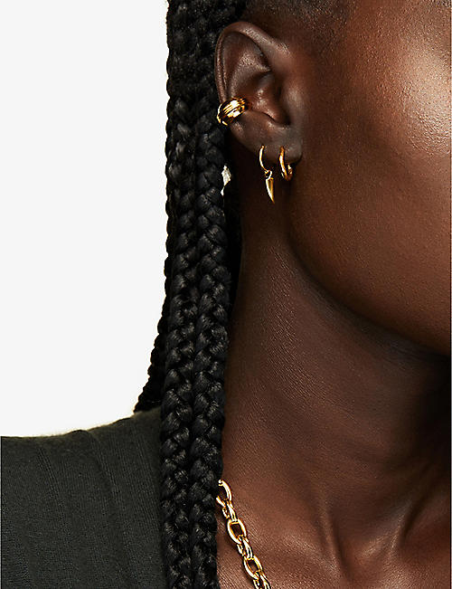 MISSOMA LTD Mini dagger 18ct gold vermeil earrings