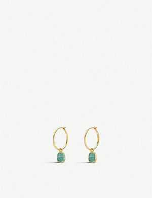 MISSOMA Amazonite 18ct gold-plated vermeil silver hoop earrings