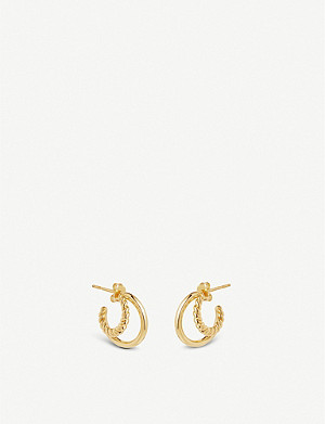 MISSOMA LTD Mini Radial 18ct gold vermeil earrings