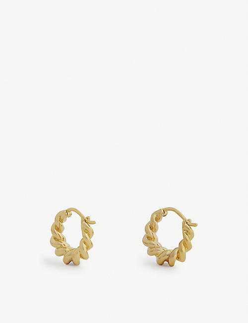 MISSOMA Mini Tital 18ct gold vermeil hoop earrings
