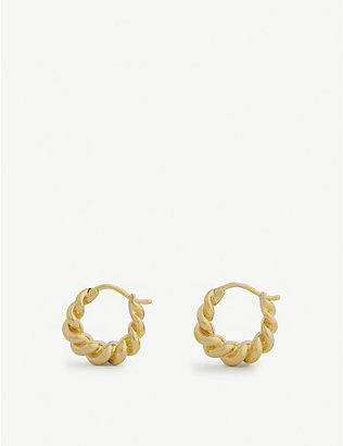 MISSOMA: Mini Tital 18ct gold vermeil hoop earrings
