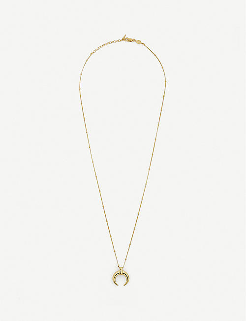 MISSOMA: Missoma x Lucy Williams large horn gold-plated vermeil sterling silver necklace