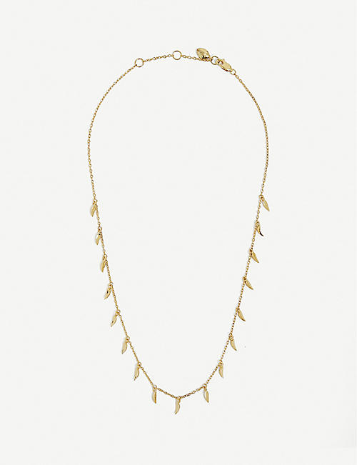 MISSOMA: Missoma x Lucy Williams Mini Fang gold-plated vermeil sterling silver necklace