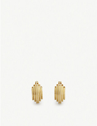 MISSOMA: Lucy Williams 18ct gold-plated mini hoop earrings