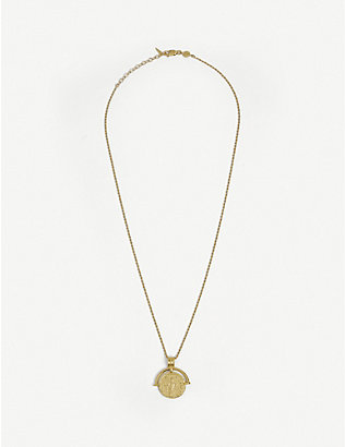 MISSOMA: Missoma x Lucy Williams Roman Coin gold-plated vermeil sterling silver necklace