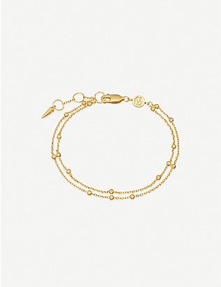 MISSOMA: Double 18ct gold-plated vermeil silver chain bracelet