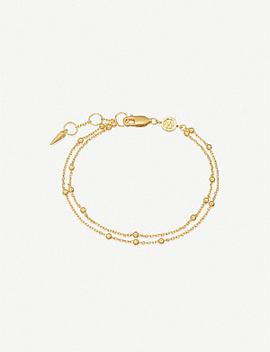 MISSOMA Double 18ct gold-plated vermeil silver chain bracelet