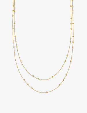MISSOMA Double Chain beaded 18ct gold-plated vermeil silver necklace