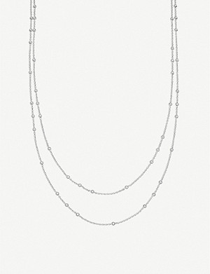 MISSOMA Double Chain beaded sterling silver necklace
