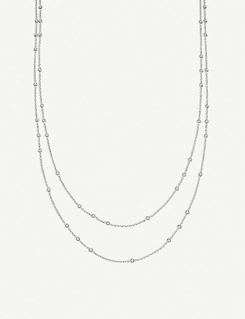 MISSOMA: Double Chain beaded sterling silver necklace