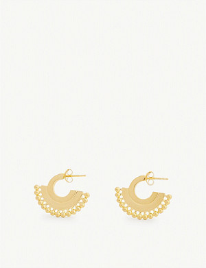 MISSOMA LTD Zenyu 18ct gold-plated brass earrings