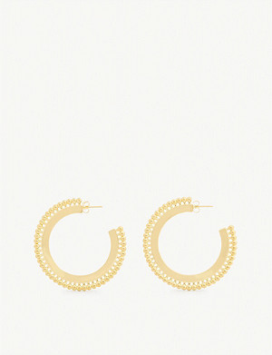MISSOMA LTD Zenyu large 18ct gold-plated brass earrings