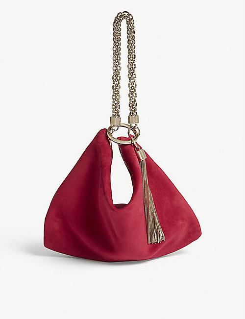 cb0c0e2eab1d JIMMY CHOO Callie Suede Clutch Bag