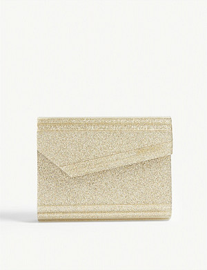 JIMMY CHOO Candy glitter clutch