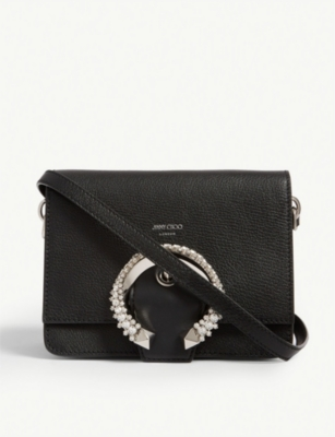JIMMY CHOO Madeline leather shoulder bag