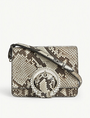 JIMMY CHOO Madeline snakeskin shoulder bag