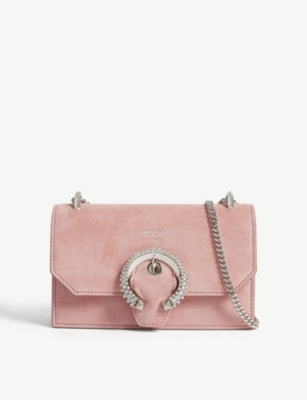 JIMMY CHOO Paris suede shoulder bag