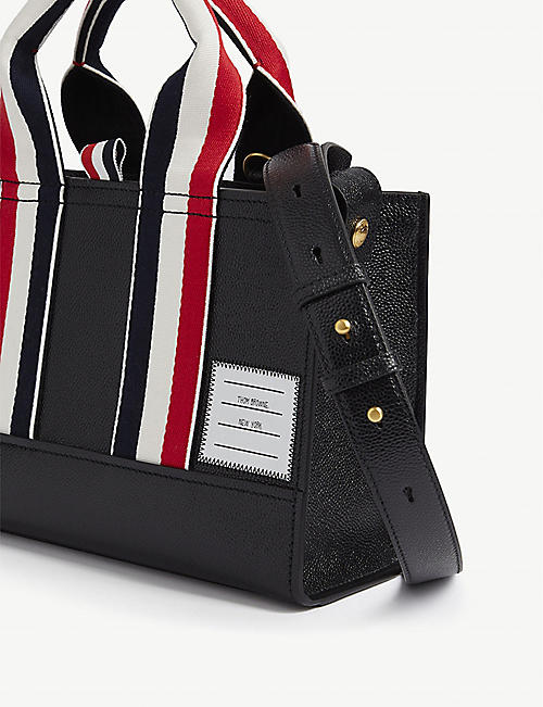 THOM BROWNE East West leather mini tote