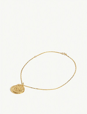 ALIGHIERI The Scattered Decade 24ct gold-plated bronze anklet