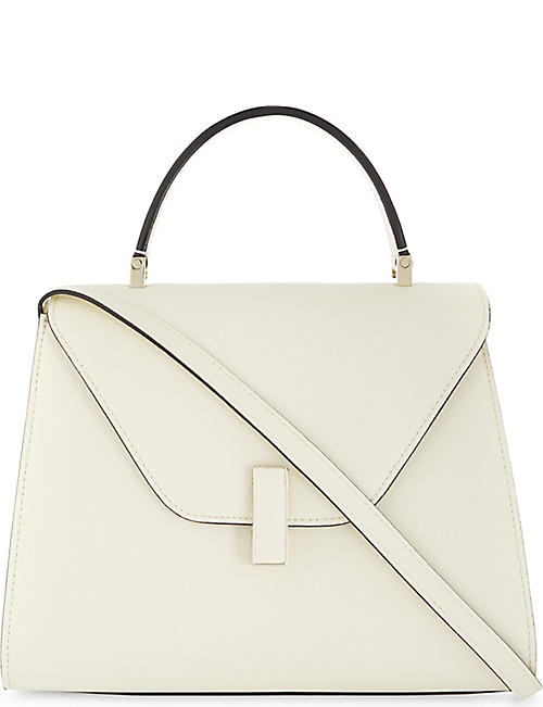 VALEXTRA: Iside medium grained-leather cross-body bag