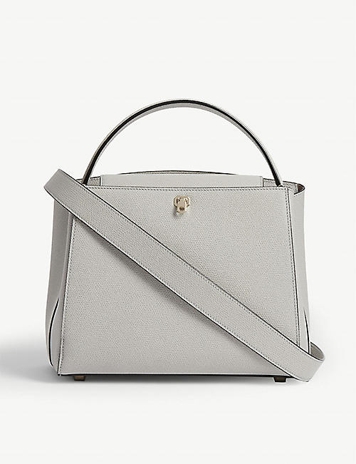 VALEXTRA Brera leather shoulder bag