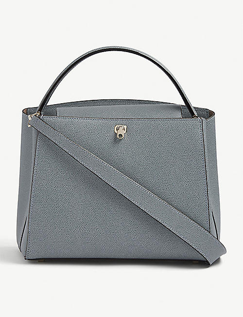 VALEXTRA: Brera leather shoulder bag