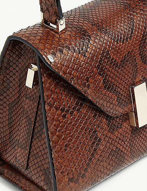 VALEXTRA Python leather mini Iside tote