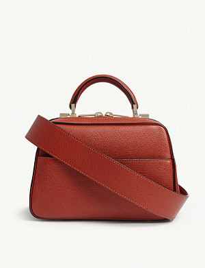 VALEXTRA Mini Nuova leather shoulder bag