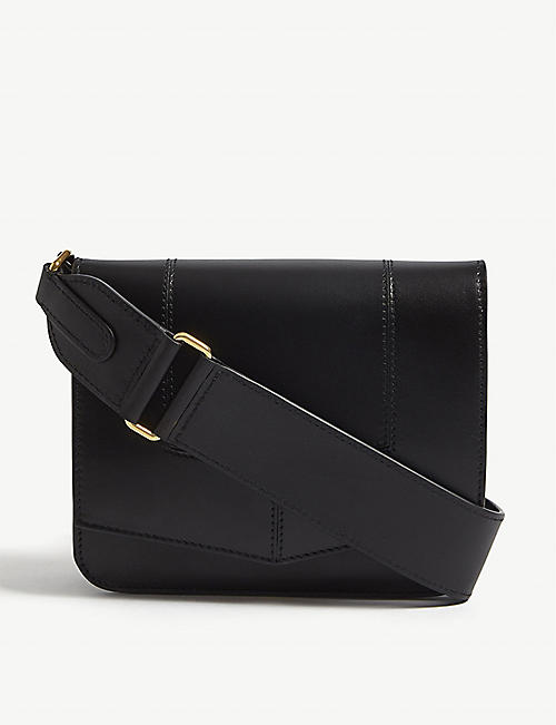 BYREDO Circuit leather cross-body bag