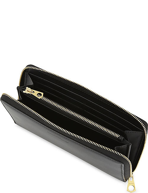 BYREDO Matte leather zip-around wallet