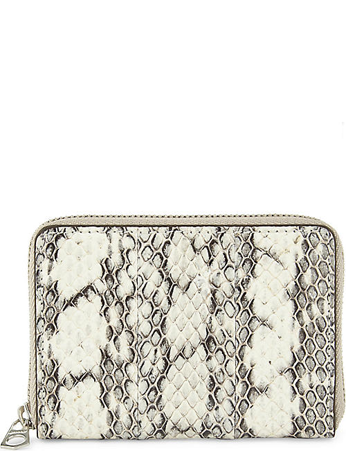 BYREDO Snakeskin embossed zip-around purse