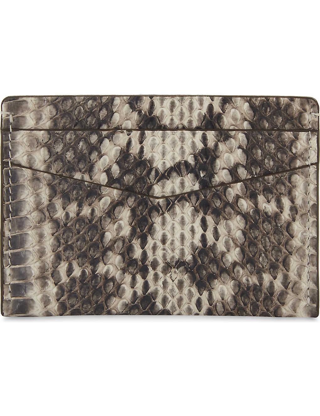 hot sales 67727 5fdf3 BYREDO - Elaphe snakeskin card holder   Selfridges.com
