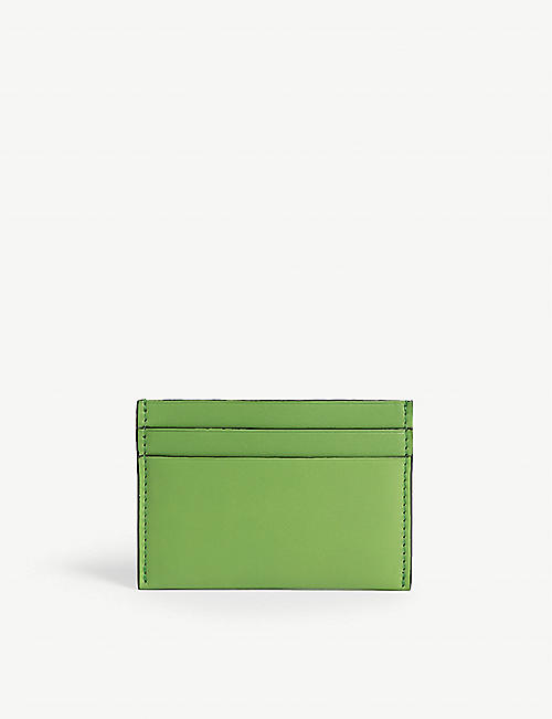 BYREDO Woven leather card holder