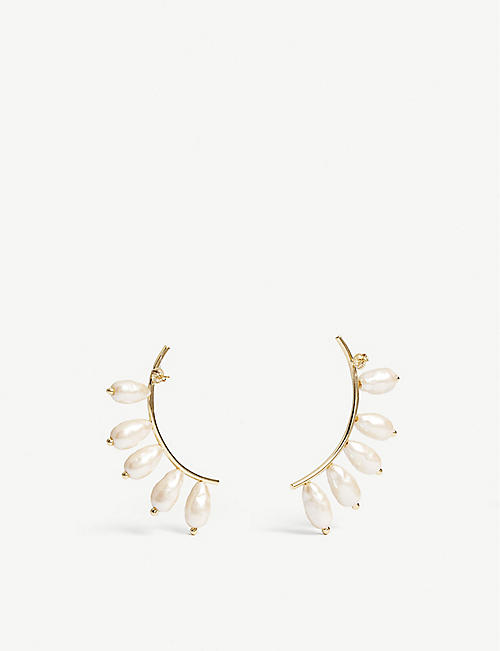 BEAUFILLE Lobe 10k yellow gold-plated earrings