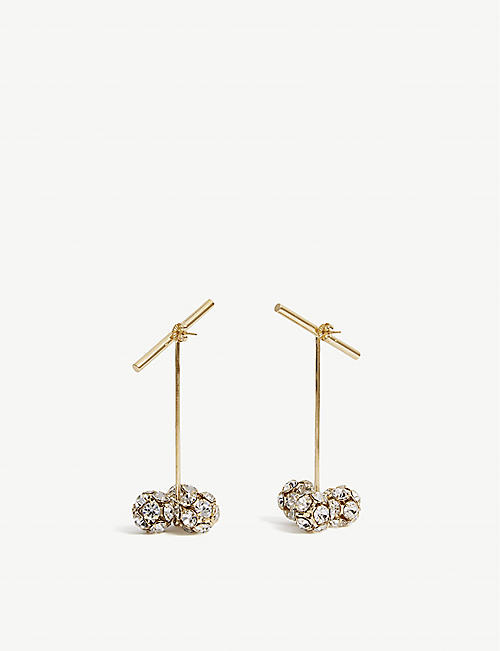 BEAUFILLE Sputnik 10k yellow gold-plated earrings