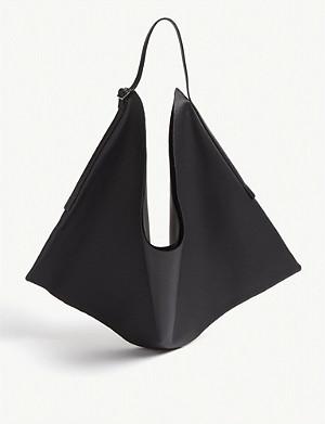 29b95e6fa7c THE ROW - Bindle suede double knots shoulder bag