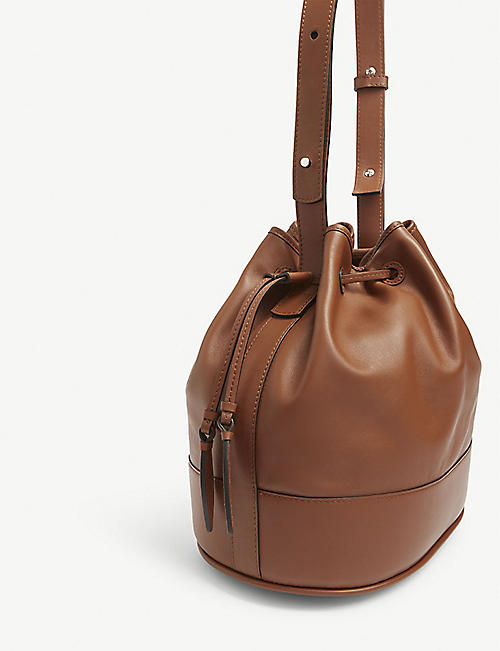 HUNTING SEASON The Drawstring leather shoulder bag