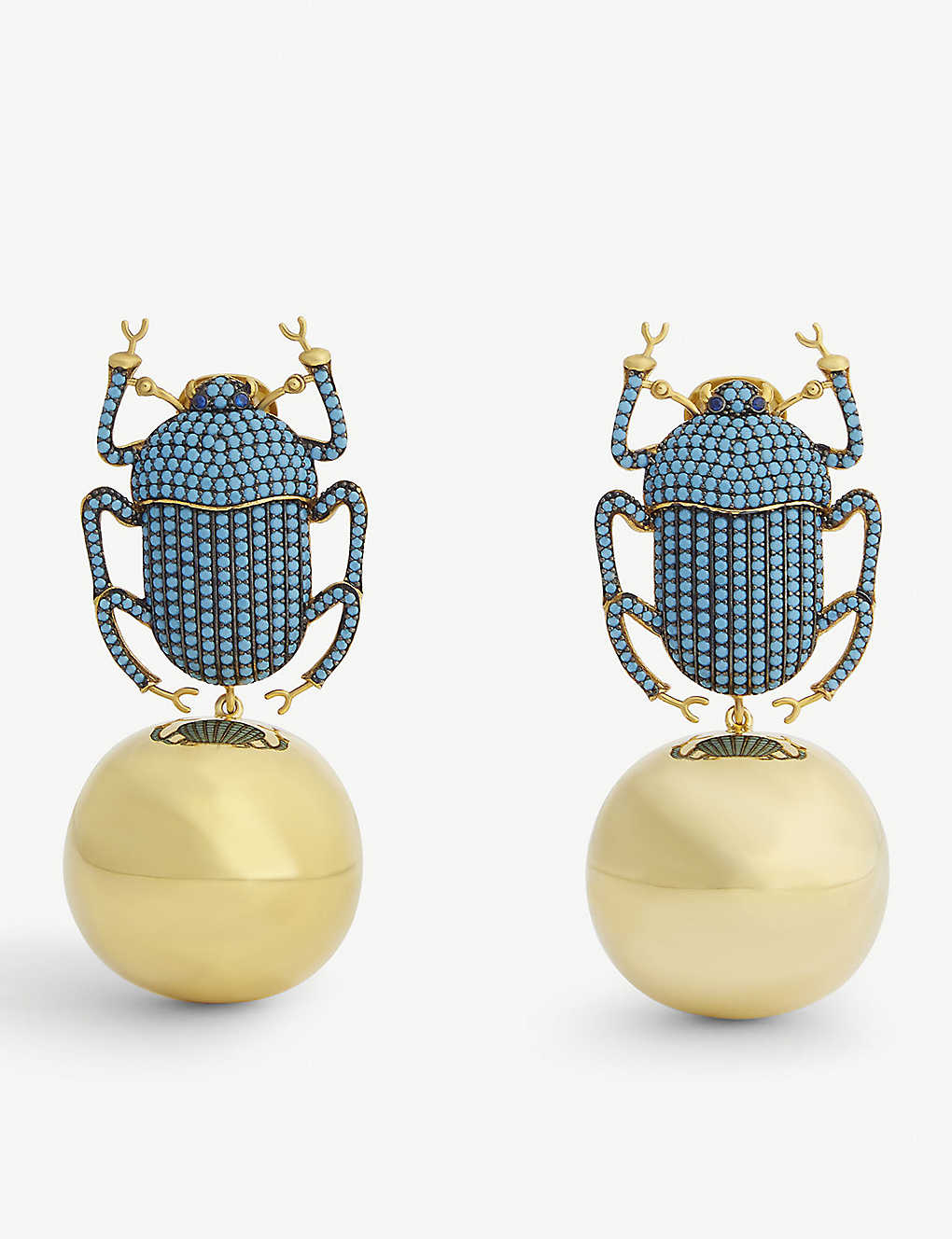 f249442cf8dc1 BEGUM KHAN - Pharaoh party gold-plated drop earrings | Selfridges.com