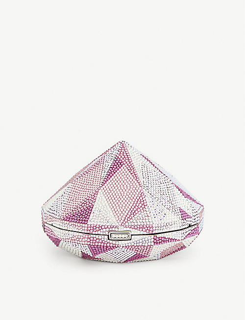 JUDITH LEIBER Diamond-shape crystal clutch