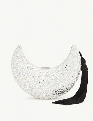 JUDITH LEIBER Crescent Moon crystal clutch
