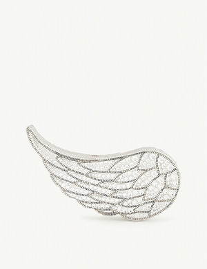 JUDITH LEIBER Crystal-encrusted Icarus wing clutch