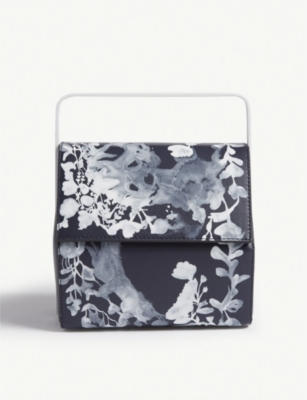 DEMANUMEA Vega floral print leather clutch
