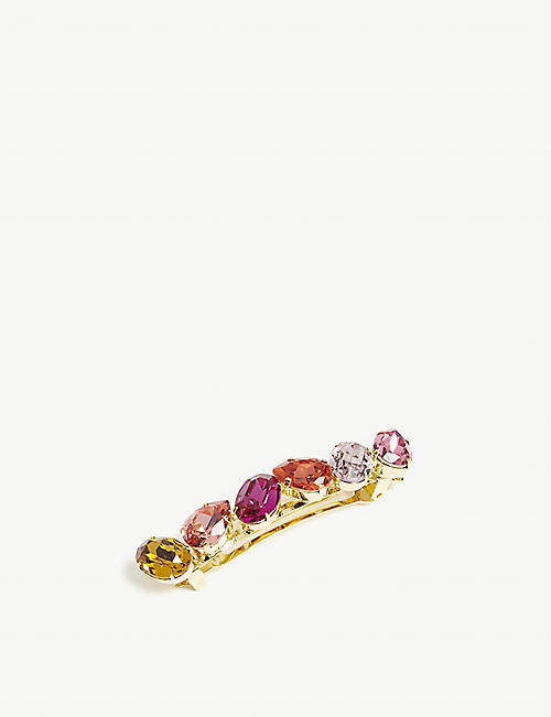 LELET NY Tracy multi-coloured crystal barrette