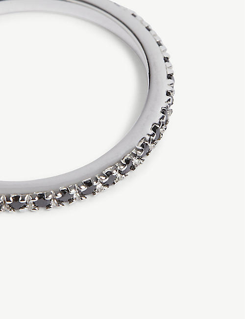 ROSIE FORTESCUE JEWELLERY Sterling silver crystal stacking ring