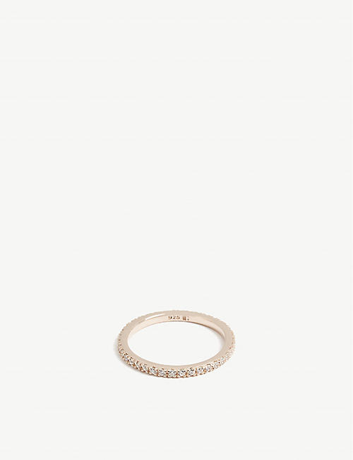 ROSIE FORTESCUE JEWELLERY Stacking rose gold-plated and crystal ring