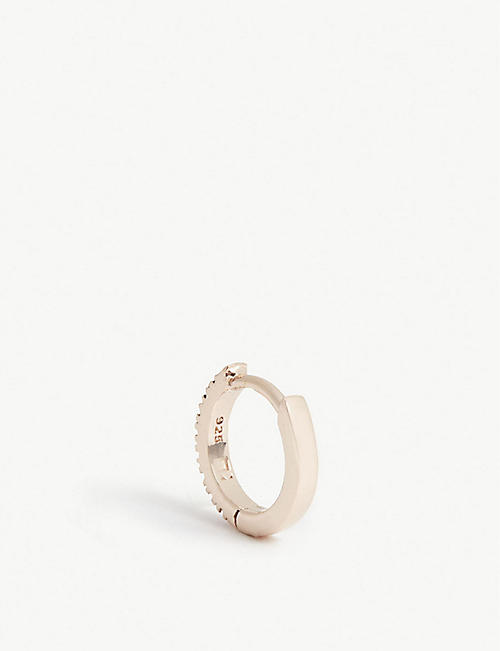 ROSIE FORTESCUE JEWELLERY Huggy Hoop rose-gold plated earring
