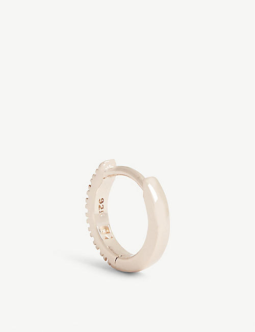 ROSIE FORTESCUE JEWELLERY Huggy Hoop rose gold-plated earring